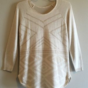 MOSSIMO AZTEC TOP WOVEN STRIPED SWEATER OVERSIZED
